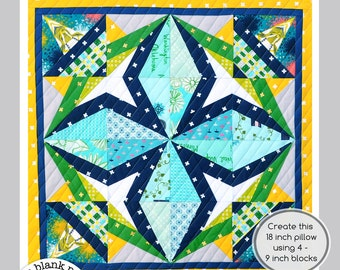 Rockstar #228 - 12 inch - Paper Piecing Quilt Pattern