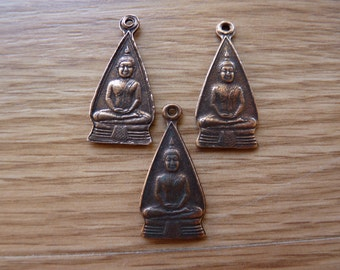 Copper plated brass Buddha pendant