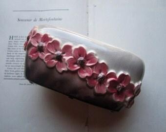 Vintage Pottery ~ Orchid  Jardinière ~ Vintage Flower Vase * Pot  * Container * Long and Low Centerpiece
