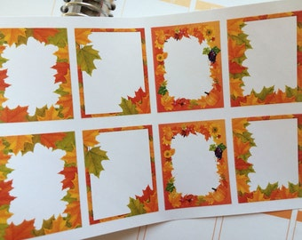 Planner Stickers Fall Stickers Full Boxes Autumn Stickers  Perfect For The Erin Condren Planner