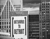 20x30 Outsource to Detroit Skyline Vertical