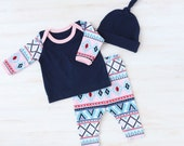 Newborn Girl Coming Home Outfit - Girl Going Home Set - Baby Going Home Set - Baby Coming Home Outfit - Baby Girl Layette - Newborn Girl Set