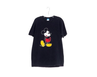OMG HALF OFF vintage Mickey Mouse shirt / oversized shirt tshirt t shirt disney shirts disney shirt faded black shirt 90s clothing