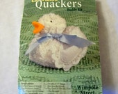 Chenille Buddy Kit, Wimpole Street Creations, Chenille Stuffed Duck, White Duck, Make a Stuffed Duck