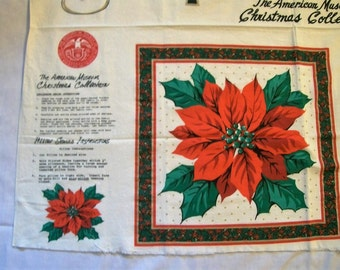 Cut Sew And Stuff Fabric Panel, Poinsettia Pillow, appliques, Poinsettia Fabric, Christmas Crafts, Christmas Fabric, Christmas Pillow,