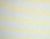 STORE CLOSING SALE - Free Spirit, Dena Designs, Fox Playground, Chevron, Yellow & Grey, 100% Cotton Quilt Fabric, Quilting Fabric