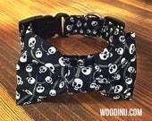 Halloween Dog Collar Bowtie Set - Halloween Collar - Dog Bow Tie Collar Set - Skull Dog Collar Bow Tie -Skull Collar Bowtie Set - Dog Bowtie