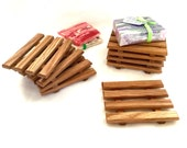 8 White Oak Soap Dishes - JUST 2.20 each - re-purposed wood - handcrafted in the USA