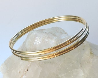 Gold Upper Arm Bracelet - Upper Arm Jewelry - Brass Armlet Armband Upper Arm Cuff - Gold Arm Band - Solid Brass - Made to Order