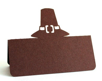 Pilgrim Hat Place Cards Set of 25 Thanksgiving
