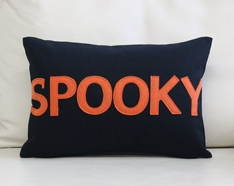 "NEW! Throw Pillow, Decorative Pillow, ""Spooky"" 10X14 inch throw pillow, NEW!"