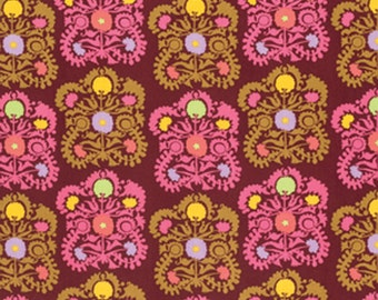 Amy Butler - Dream Weaver - Gypsy Embroidery in Plum - Half Yard Cotton Fabric