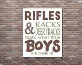 Hunting Nursery Decor,Rifles Racks & Deer Tracks,Boys Wall Art,Boys Hunting Sign,Boys Hunting Poster,INSTANT DOWNLOAD,Kid's Wall Art