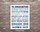 Boys Room Decor, Brothers Sign, Brothers Wall Art, Brothers Room Decor, DIGITAL DOWNLOAD ART,Custom Brothers Art, Personalized Brothers Art