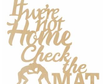 Check the Mat Door Hanger - Baseball Decor, Check the Field, If Were Not Home - A100951