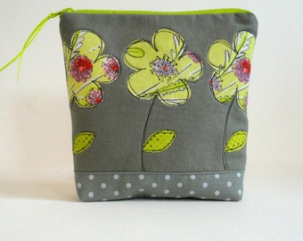 20% off SALE! cosmetic bag zipper pouch