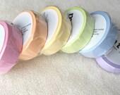 mt Washi Masking Tape - mt Basic Colors - Set of 6 - Pastel Pink / Pastel Orange / Pastel Yellow / Pastel Lime / Pastel Blue / Pastel Purple