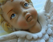 Antique Santos Hand painted Cherub Angel Signature Western Germany