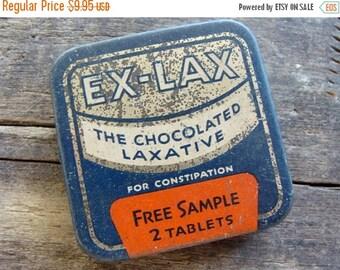 20PercentOff Antique Medical Tin Chocolated Laxative