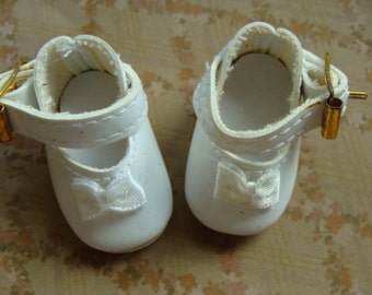 Vintage Sweet Mary Jane Doll Shoes with bows