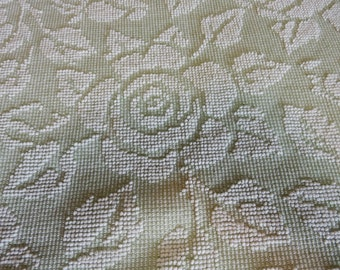 """one pieces light Green vintage Hobnail Chenille Fabric 44""""x 80"""" (89-POF)"""