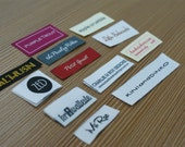 300 Custom Text Only Taffeta Clothing Woven Labels free font style colors never fade - professional quality free design service and shipping