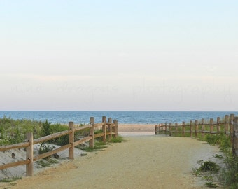 Beach Photography, Nature Photography, Twilight Beach Art, Ocean Art, Beach Print, Beach Art Pastel, New Jersey Shore Fine Art Photography