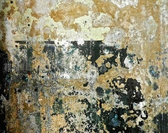 Abstract Art, Abstract Print, Abstract Photography, Industrial Artwork, Urban Decay Mustard Yellow Modern Wall Decor, Black Textured Art