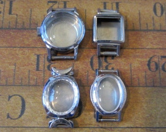 Vintage  Watch parts - watch Cases -  Steampunk - Scrapbooking f68