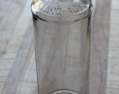 Vintage glass bottle,H.H.Hay Co.,Selling Acts.,L.F.Atwood,clear bottle, empty bottle,