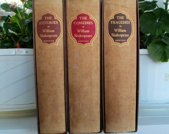 William Shakespeare Comedies Tragedies Histories 3 vols Heritage Boxed 1958 Illustrated. Literature. Drama. Theater, Classics. Plays
