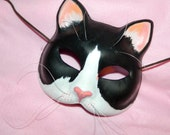 Cat Mask Ms. Whiskers, Masquerade Tuxedo Cat