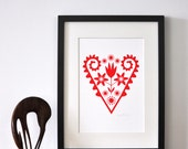 Scandinavian Heart  - Open Edition Giclee Print