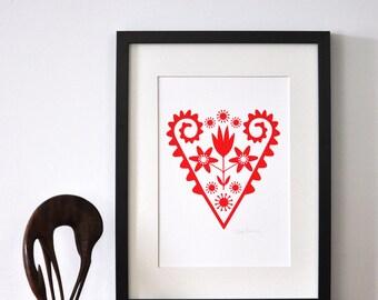 Scandinavian Heart  - Open Edition Giclee Print