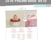 Photography Pricing Template - Price Guide List for Photographers - Newborn Photographer Photo Price Sheet INSTANT DOWNLOAD
