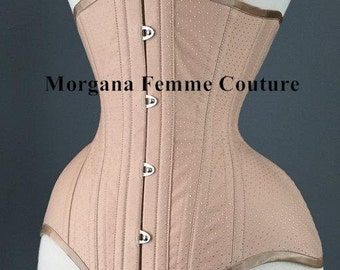 Nude spot broche coutil tightlacing waist training custom corset