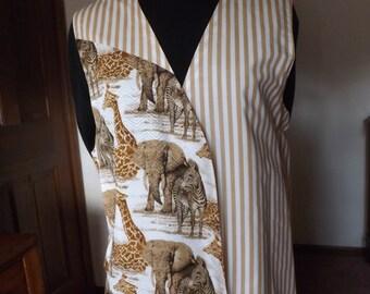 Animal stripe vest