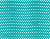 YEAR END SALE - Four Corners - 1 yard - C4874- Triangles in Teal - Simple Simon and Co for Riley Blake Designs