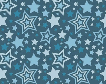 FALL SALE - 4 yards - Lucky Star - C4830-Main in Navy - Zoe Pearn for Riley Blake Designs