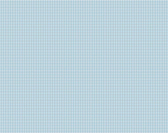FALL SALE - Lucky Star - 1 yard - C4834-Gingham in Blue - Zoe Pearn for Riley Blake Designs