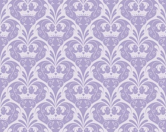 FALL SALE - 3 yards - Dream and a Wish - C4815-Damask in Purple - Sandra Workman for Riley Blake Designs