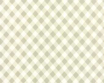 SUMMER SALE - 3 Wideback Yards - 108 wide - Vintage Picnic - Plaid in Gray - SKU 11111-15 - Bonnie and Camille for Moda Fabrics