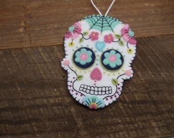 Felt Sugar Skull Ornament