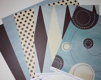 GIN-X Anyone, Anyone? - 12 x 12 Scrapbooking Paper - 12 Coordinating Sheets - Make Your Own Album