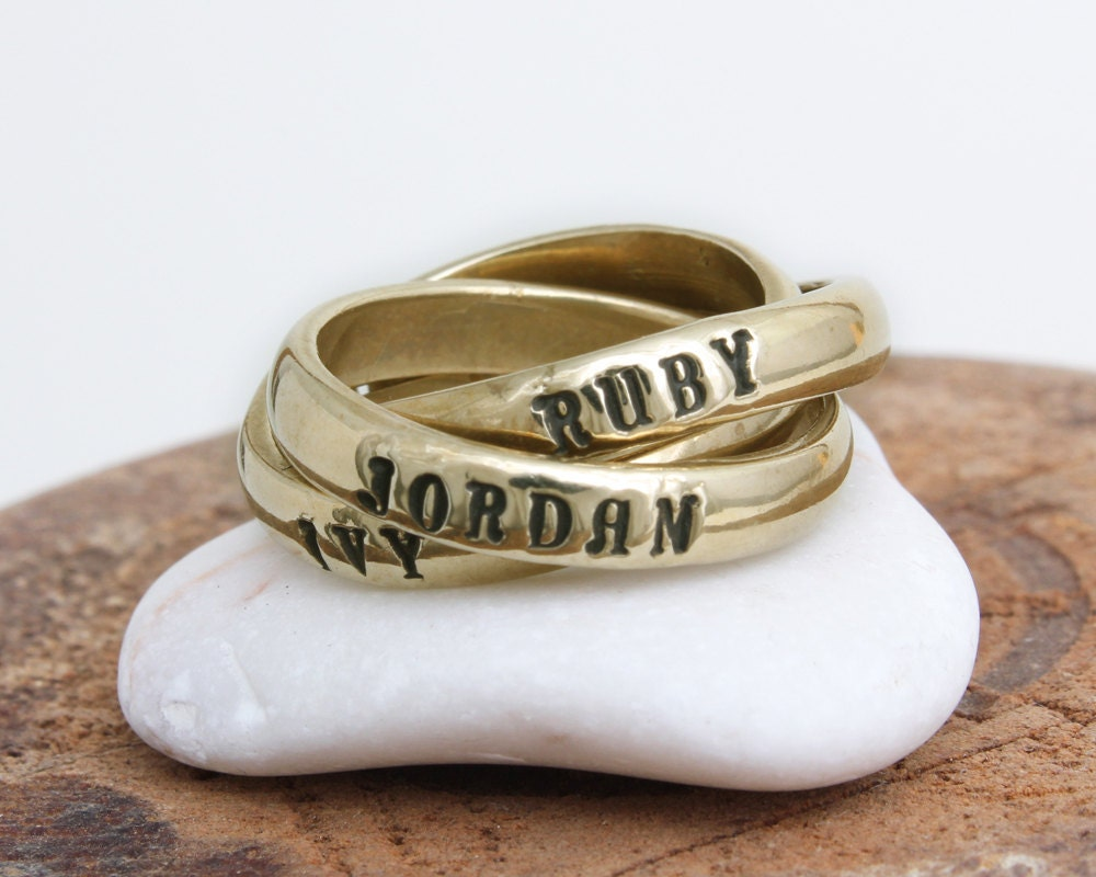 gold s ring personalized ring family ring by