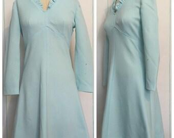 Light Blue 60s Dress Size 8