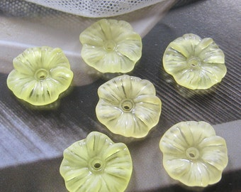 20 pcs - 17mm Frosted ruffled flower beads  (FL008-D)