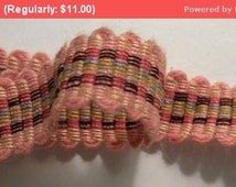 30% Off SALE- Sweet Vintage French Passementerie Cotton Pink Shade Doll 1920's Trim