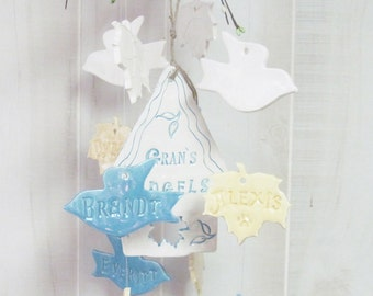 Birdhouse  Family Tree Wind Chime Personalized