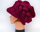 Custom Order Cable Knit Newsboy Cap For Olivia